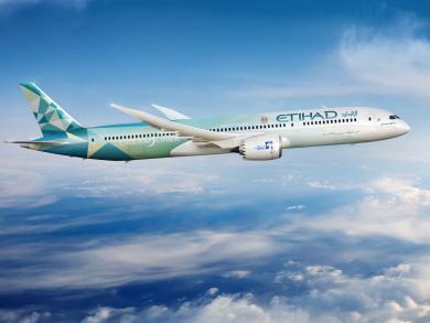 Abu Dhabi's Etihad Airways launches eco-friendly aeroplane