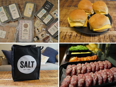 Unboxing SALT's enormous DIY burger kits at home