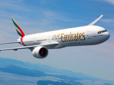 What countries are Dubai's Emirates Airlines flying to?